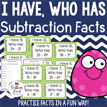 I Have, Who Has - Subtraction Facts