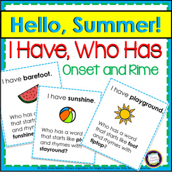 I Have..., Who Has...?: Summer Fun!
