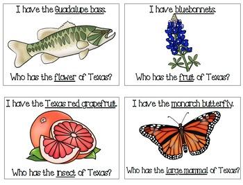 I Have Who Has-Texas Symbols
