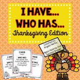 I Have, Who Has: Thanksgiving Edition