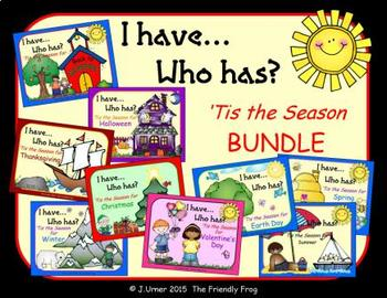 I Have. Who Has? 'Tis the Season All Year BUNDLE