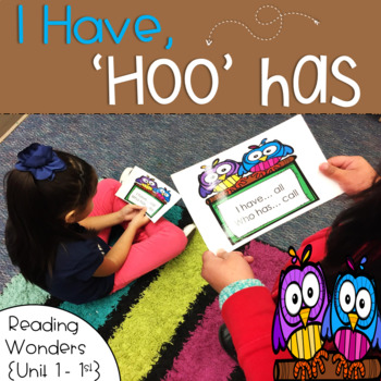 I Have Who Has for Reading Wonders Sight Words 1st grade {Unit 1}