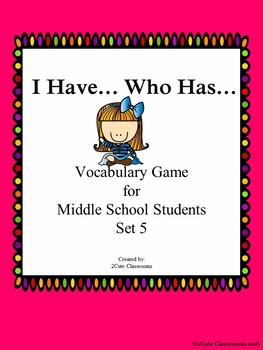 I Have...Who Has Vocabulary Game Set 8