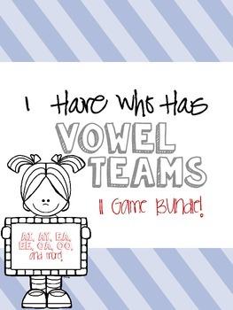 I Have Who Has Vowel Teams Game