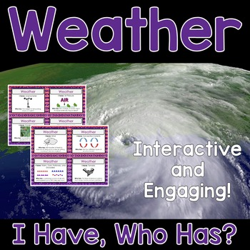 Weather Activity - I Have, Who Has?