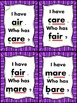 I Have... Who Has..? -air and -are sounds Common Core Aligned
