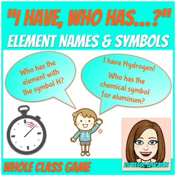 """""""I Have, Who Has"""" for Element Names and Symbols"""