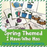 Regular Plurals: I Have Who Has for Spring