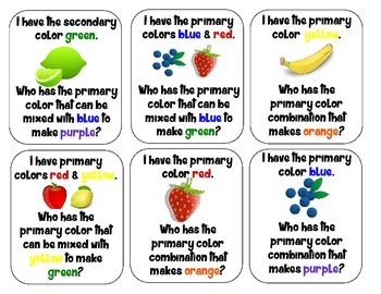 I Have Who Has with Primary & Secondary Colors (version 2)