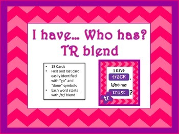 I have... Who has...Tr Blend