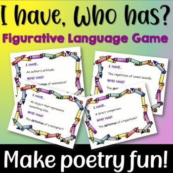 I Have, Who has? Game for Teaching Figurative Language an