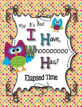 I Have, Whoooo Has? Elapsed Time