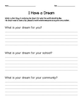 I Have a Dream Graphic Organizer