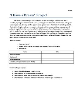 """""""I Have a Dream""""-Inspired Speech Project"""