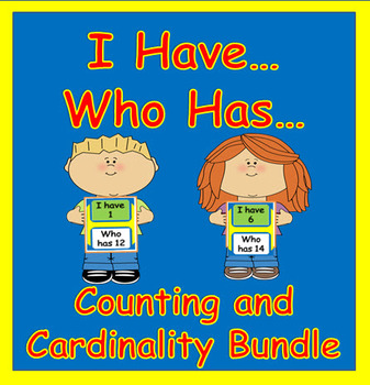 Counting and Cardinality:  I Have...Who Has Bundle for Kin