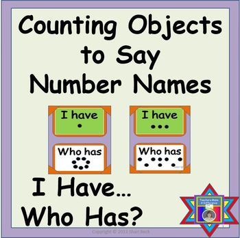 Number Names:  Counting Objects to Say Number Names:  I Ha