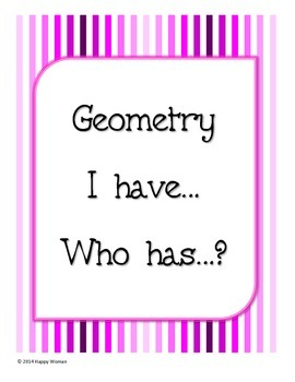 I Have...Who Has...? Geometry