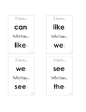 I Have/Who Has Smart Start Sight Word Game (First Grade)