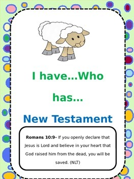 I Have...Who Has...New Testament