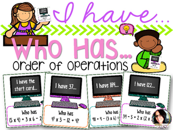 I Have...Who Has...Order of Operations COMMON CORE ALIGNED 5.OA.1