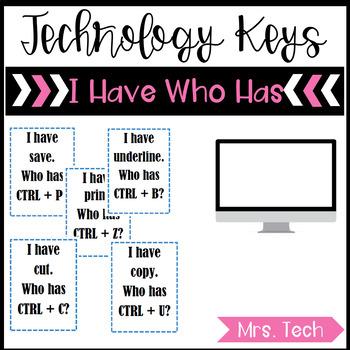 I Have Who Has Technology Keys - Windows