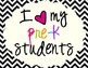 I Heart My Pre-K Students Sign Pack {Chevron}