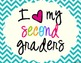 I Heart My Second Graders Sign Pack {Chevron}