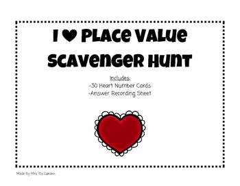 I Heart Place Value Scavenger Hunt