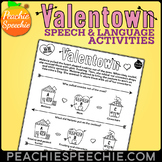Valentown: Valentine's Day Speech Therapy: NO PREP!