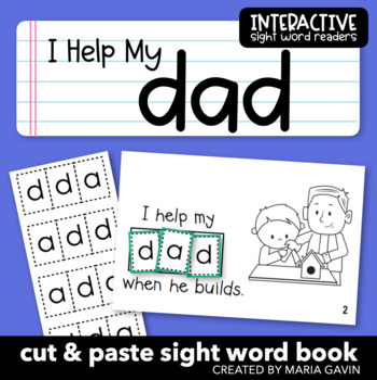 "Interactive Sight Word Reader ""I Help My DAD"""