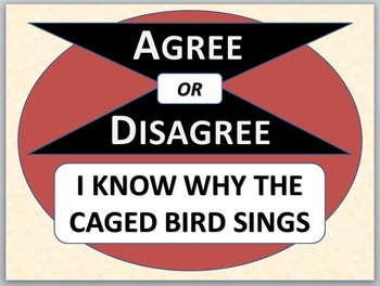 I KNOW WHY THE CAGED BIRD SINGS - Agree or Disagree Pre-re