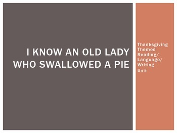 I Know An Old Lady Who Swallowed a Pie Unit (Thanksgiving