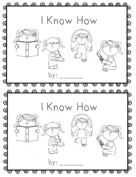 I Know How~ emergent reader