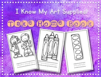 I Know My Art Supplies Take-Home Book