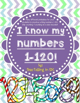 I Know My Number 1-120 (many different printables for numb