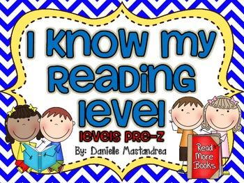 I Know My Reading Level Student Accountability Chart