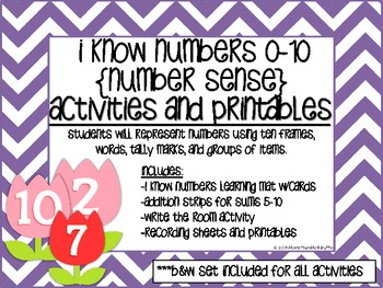 I Know Numbers 0-10 (Number Sense) Activity & Printables {