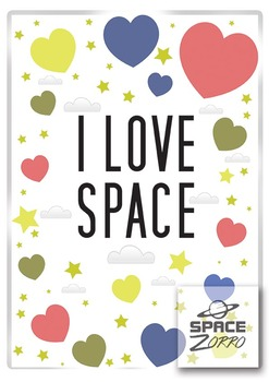 I LOVE SPACE poster