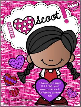 I LOVE Scoot! Valentine Scoot Pack *Common Core Aligned*