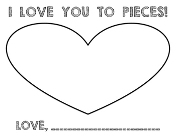 I LOVE YOU TO PIECES - Valentine's Day Craft