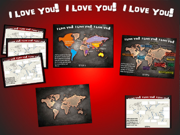 I LOVE YOU! in 12 languages: Fun, Interactive 40-slide PPT