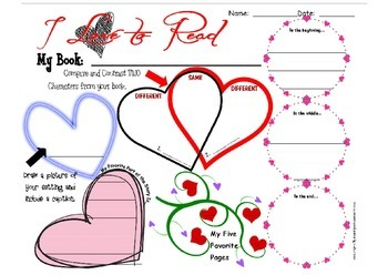 I LOVE to Read - Literature Activity