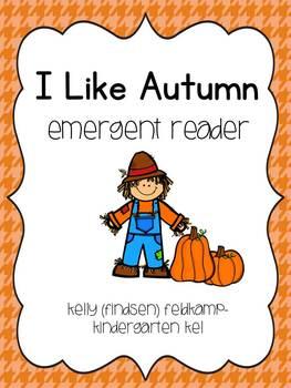 I Like Autumn Emergent Reader FREEBIE