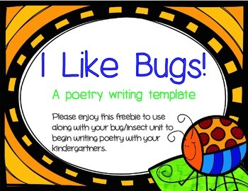 I Like Bugs! - Bug Poem Template