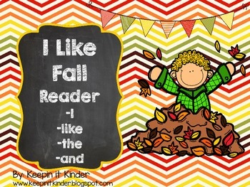 I Like Fall sight word reader
