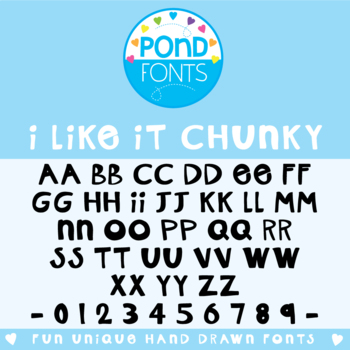 I Like It Chunky {Font for Commercial Use}