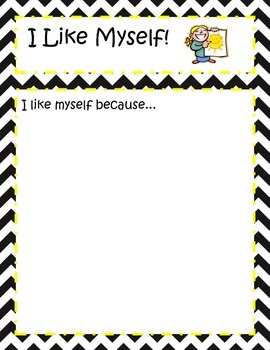I Like Myself Worksheet