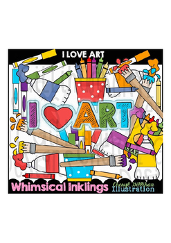 I Love Art Clipart Collection