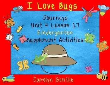 I Love Bugs Journeys Unit 4 Lesson 17 Kindergarten Sup. Act.