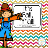 """Fall Literacy Centers for """"Big Kids"""""""